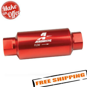 Aeromotive 12304 Red Fuel Filter in line Filter 100 micron