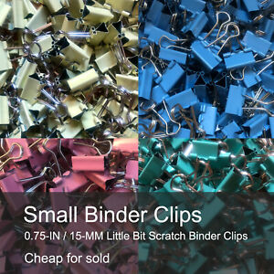 Small Binder Clips Mix Colored 0 75 Inch Little Bit Scratch Paper Clips 40 Pcs