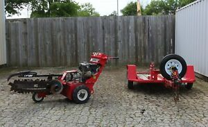 2012 Barreto 912 Walk behind Trencher With Trailer