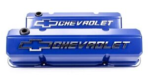 Proform Aluminum Tall Valve Covers Small Block Chevy P n 141 932