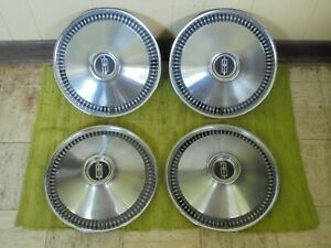 1966 Oldsmobile Hub Caps 14 Set Of 4 Olds Wheel Covers 66 Hubcaps