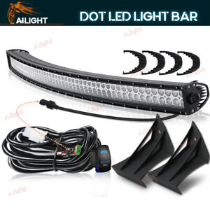Led Light Windshield Mount Dt Wiring Combo For 99 15 Ford F250 350 Super Duty