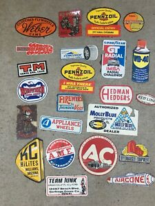 Vintage Stickers Rat Rod Hot Rod Racing Motorcycle Weber Webco Tools Oil Lot