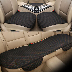 Car Seat Cover Protector Mat Pad Linen Fabric Front Rear Flax Cushion Breathable