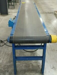 22 X 16 2 Hytrol Brand Powered Belt Conveyor With Variable Speed Drive