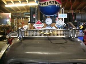 Nice 1956 Desoto Grill Original With Parking Lights Custom Mercury Ford Leadsled