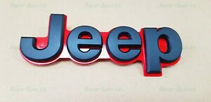 1pc New Black Red Rear Tailgate Emblem Badge For 2014 2018 Jeep Grand Cherokee