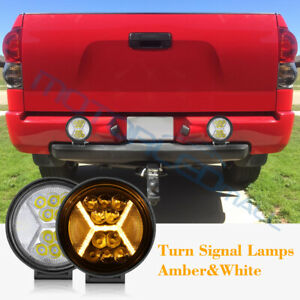 2x 5inch Amber 390w Led Work Light Spot Flood Round Driving Pods Drl Offroad 4wd
