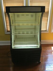 Beverage air Bz13 1 Open Air Commercial Refrigerator W Shelving
