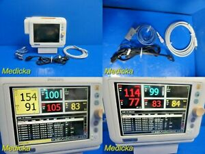 2012 Philips Sure Signs Vs3 Patient Monitor W Nbp Hose spo2 Sensor 18295