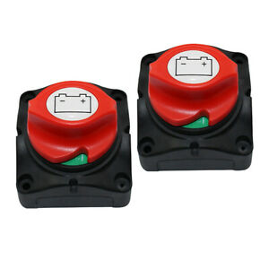 Pair Battery Disconnect Isolator Switch For Marine Boat Car Rv Atv Vehicles