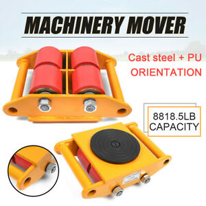 6t 13200lb Heavy Duty Machine Dolly Skate Machinery Roller Mover Cargo Trolley