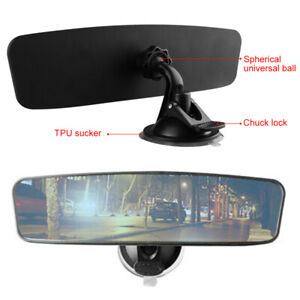 Adjustable Car Auto Interior Rear View Mirror Wide Flat Suction Cup Panoramic