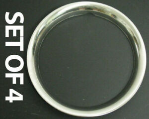 New 14 Stainless Steel Beauty Trim Rings Set Of Four