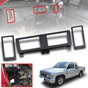 Set Air Vent Frame Black For Nissan Navara Pathfinder D21 Hardbody Pickup
