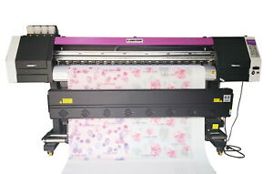 1830mm 72 Large Format Dye Sublimation Printer With 2x Epson 4720 Head 60m2 hr