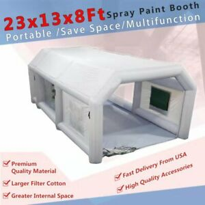 23x13x8ft Portable Inflatable Spray Booth Paint Tent Auto Workstation From Usa