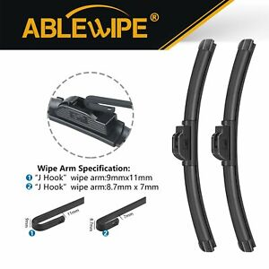 Ablewipe Front Windshield Wiper Blades Fit For Chevrolet Captiva Sport 2014 2012