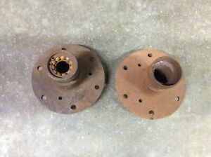 Vintage Model T Ford Front Wood Wheel Hubs Pair