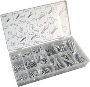 240 Pc Piece Mm Metric Size Nut And Bolt Screw Assortment Hardware Kit
