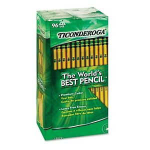 Dixon Ticonderoga Woodcase Pencil Hb 2 Yellow Barrel 96 pack 5 Pack