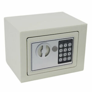 9 Electronic Digital Safe Security Box Gun Cash Home Hotel Office Wall Cabinet