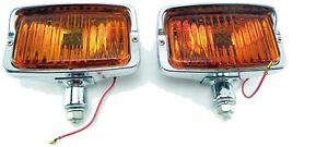 Nos Vintage Sears Auxiliary Fog Amber Driving Lights 55711