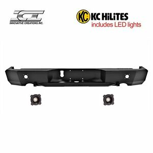Rbm65dgn kc Magnum Off Road Rear Bumpers With Kc Hilites Led Reverse Lights Ici