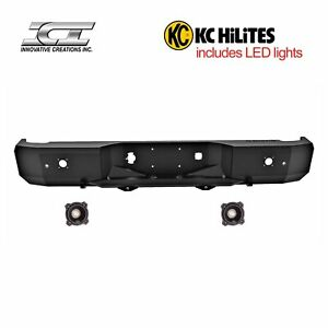 Rbm68chn kc Magnum Off Road Rear Bumpers With Kc Hilites Led Reverse Lights Ici