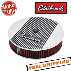Edelbrock 4266 Elite 2 Series Polished 14 Round Air Cleaner 3 Pro Flo Element