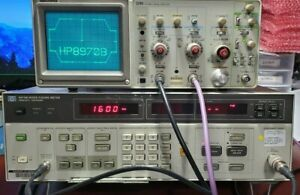 Hp Agilent Keysight 8970b Noise Figure Meter 10 Mhz To 1600 Mhz Recent Cal