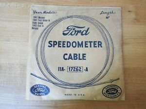 Original 1941 1942 Vintage New Old Stock 69 Ford Speedometer Cable 11a 17262 A