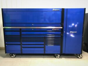 Snap On Blue All Drawer 84 Epiq Tool Box Stainless Top Hutch Full Size Locker
