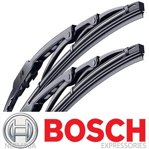 2x Bosch Wiper Blades Set For Kia Sedona 2006 2019 Direct Connect Pair Front