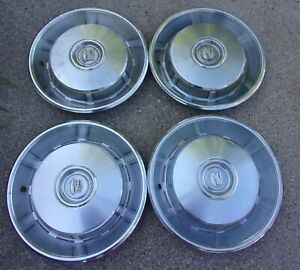 4 1967 Cadillac Fleetwood Deville Hubcaps Wheel Covers
