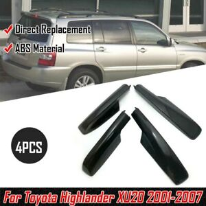 4pcs Roof Rack Rail End Cover Shell Cap For Toyota Highlander Xu20 2001 2007 Rs