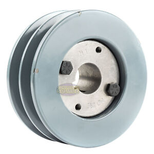 B Section Dual Groove 2 Piece 4 5 Pulley W 1 Sheave Shiv Cast Iron 5l V Belt