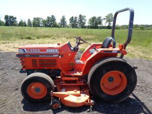 Kubota L2250 Tractor 4wd Glide Shift Transmission 72in Belly Mower 1 091hrs