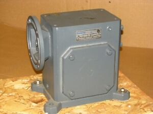New Sterling Electric Worm Gear Speed Reducer 325aq100562 100 1 Ratio