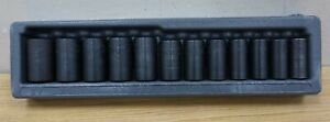 Snap On 312imms 12pc Semi Deep 6pt Metric Impact Socket Set