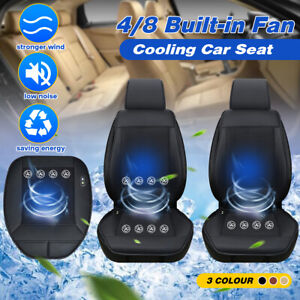 4 8 Fan Cooling Car Seat Cushion Cover Air Ventilated Fan Conditioned Pad Summer