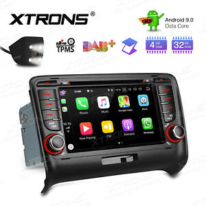 7 Android 9 0 8 Core 4 32gb Car Stereo Dvd Gps Radio Rca 4k Cam For Audi Tt