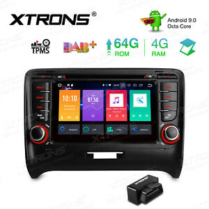 7 Android 9 0 8 Core 4 32gb Car Stereo Dvd Gps Radio Rca 4k Obd2 For Audi Tt