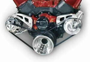 March Performance Aluminum Big Block Chevy Serpentine Pulley Kit P N 23006
