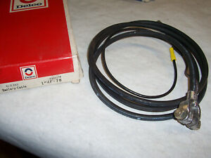 Nos Battery Cable 1963 And 64 Chevrolet Corvette Delco 4f78