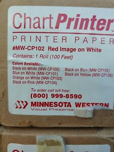 Chart Printer Thermal Paper dtp Red On White 23 Poster Mw cp102 100