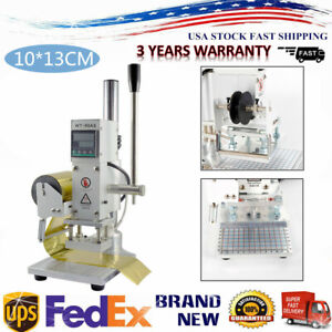 10 13cm Manual Digital Hot Foil Stamping Machine Leather Logo Stamp Bronzing Usa