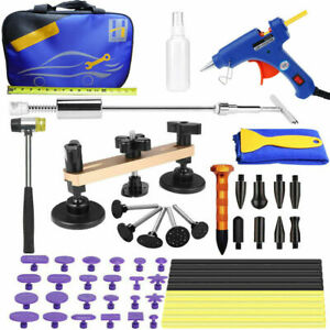 Auto Car Body Paintless Repair Removal Tools Kit Slide Hammer Puller Lifter