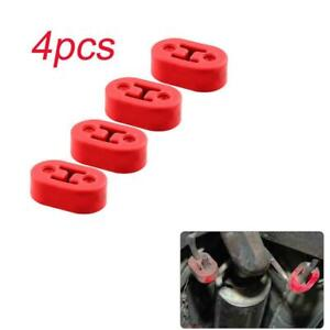 4pack Red Car Heavy Duty Rubber Exhaust Tail Pipe Mount Bracket Hanger Insulator