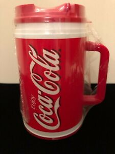 VINTAGE 64 Oz COCA-COLA CLASSIC WHIRLEY INDUSTRIES RED INSULATED MUG MADE IN USA